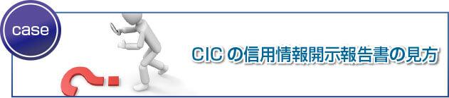 CICの信用情報開示報告書の見方