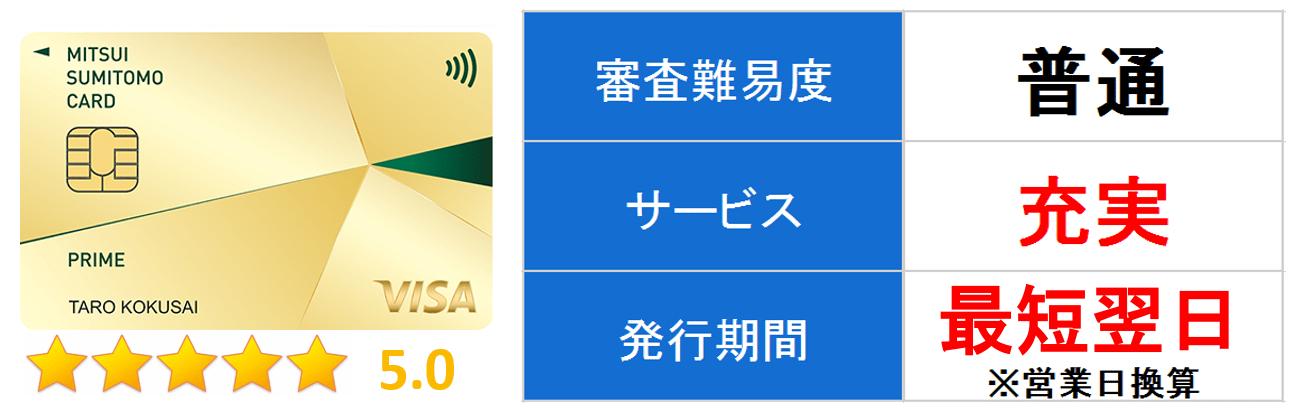 三井住友カードプライムゴールド メイン