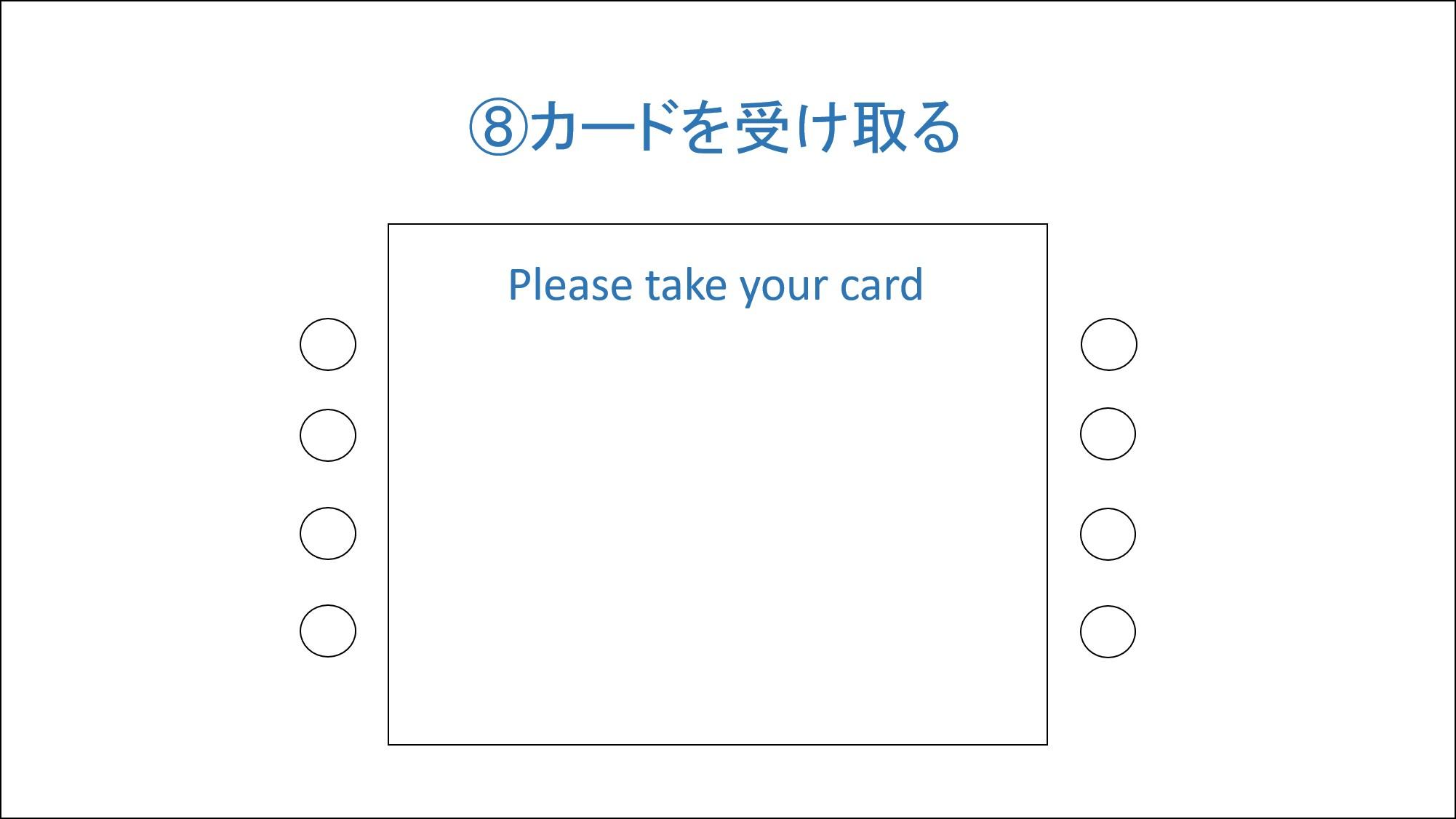 カードを取る