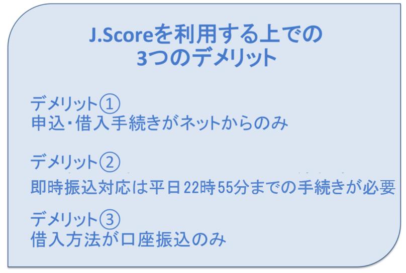 J.Scoreのデメリット3つ