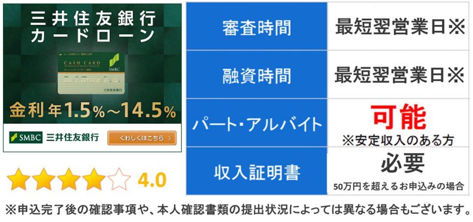 三井住友銀行カードローン キャプチャ